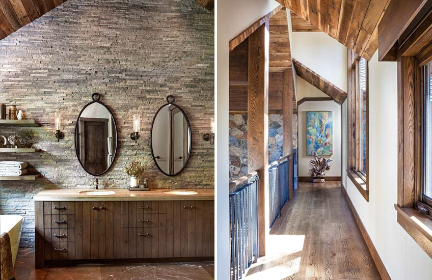 Jeff Andrews Lake Tahoe Cabin Interior Design – Cabin Bathroom Design –  LuxDeco.com Style Guide