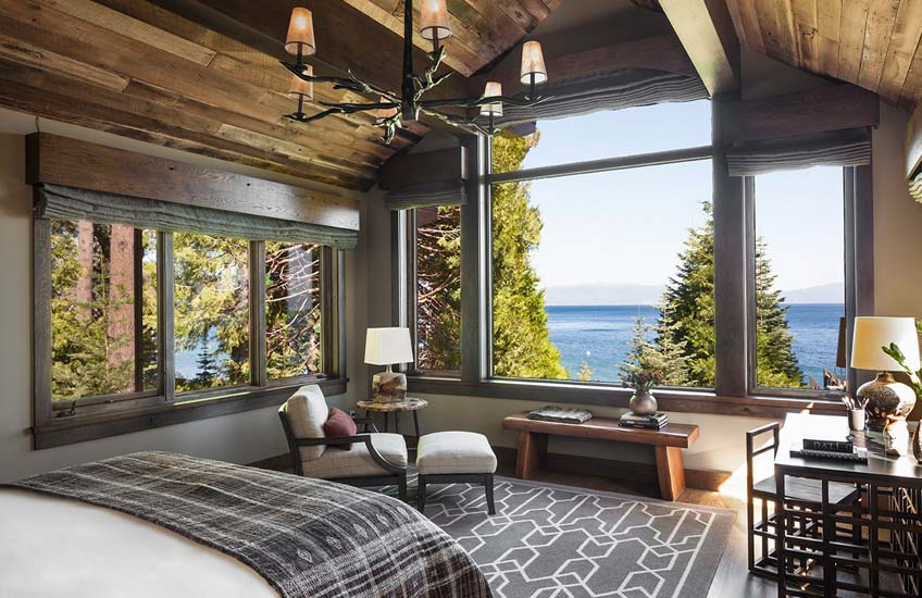 Jeff Andrews Lake Tahoe Cabin Interior Design – Cabin Bedroom Inspiration – LuxDeco.com Style Guide