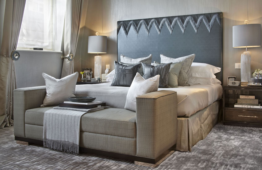 Blue Bedroom Ideas – Sophisticated Finish - Katharine Pooley Lancasters – LuxDeco.com Style Guide