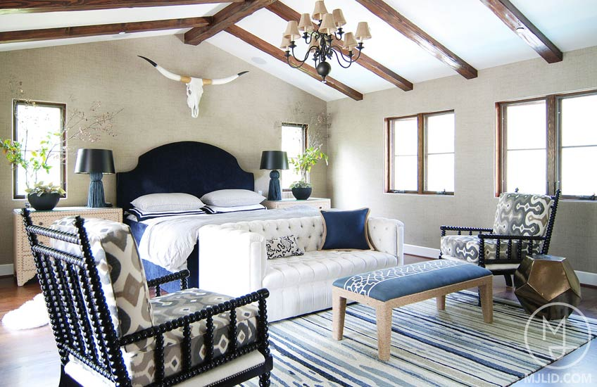 Blue Bedroom Ideas - California Love – MJLID – LuxDeco.com Style Guide