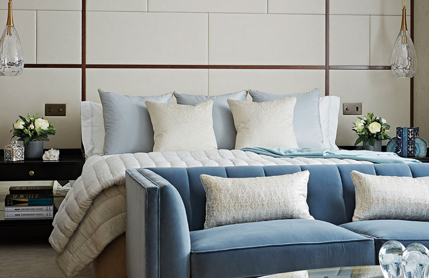 Blue Bedroom Ideas – Taylor Howes - Subtle Approach – LuxDeco.com Style Guide