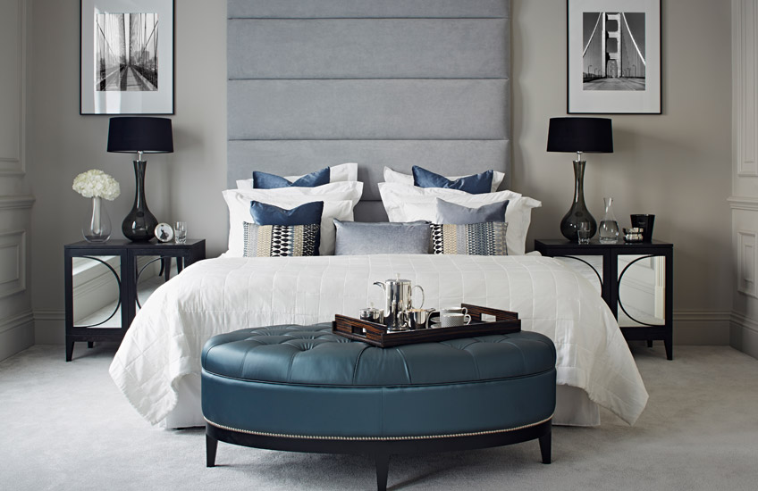 Blue Bedroom Ideas – Contemporary Townhouse collection – LuxDeco.com Style Guide