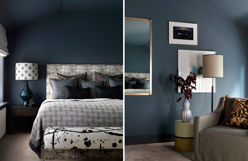 Interview with Natalia Miyar, Interior Designer – Blue Bedroom Ideas - Moody Blues –  LuxDeco.com Style Guide