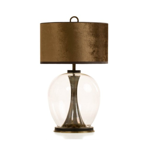 Rosendale Wide Table Lamp - Smoked Brass