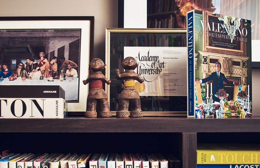 The Tastemakers –The Assoulines – Office – Assouline Luxury Books, available atLuxDeco.com – Style Guide