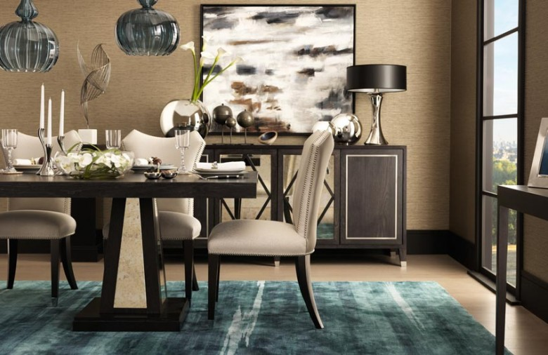Tailored Penthouse collection – Luxury Dining Room Design – Shop at LuxDeco.com