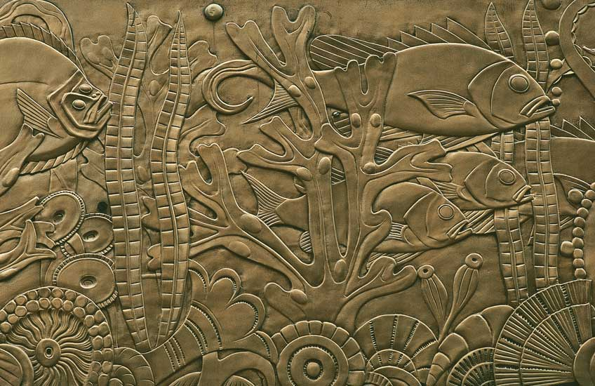 Art Deco Design Essentials by Francis Sultana – Detail of frieze in bronze, Chanin Building, NewYork – LuxDeco.com Style Guide