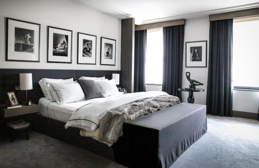 Timeless Design Fundamentals – Gilles & Boissier – Monochrome Bedroom – LuxDeco.com Style guide