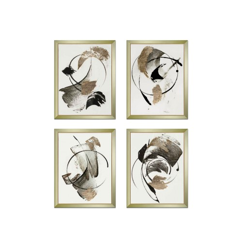 Set of 4 Siglar Bronze Paintings