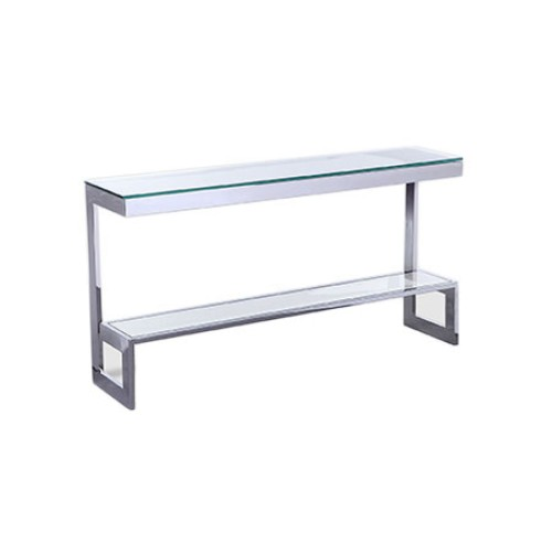 Ziggi Console Table - Polished Stainless Steel