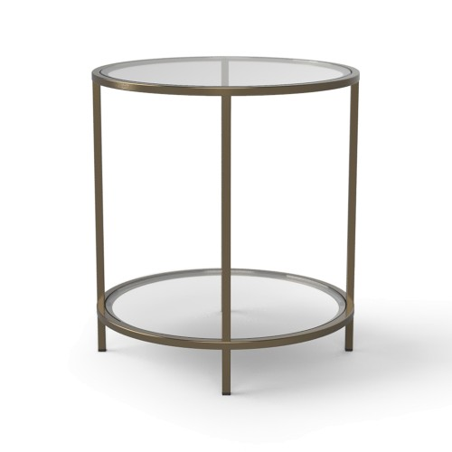 Brooklyn Glass Round Side Table