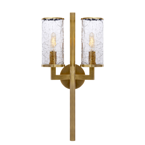 Liaison Double Sconce - Burnished Brass