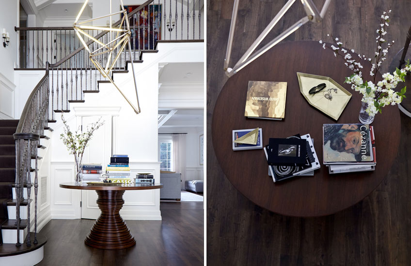 How To Style Your Round Entryway Table – Heather Hilliard, Hillsborough project – LuxDeco.com Style Guide