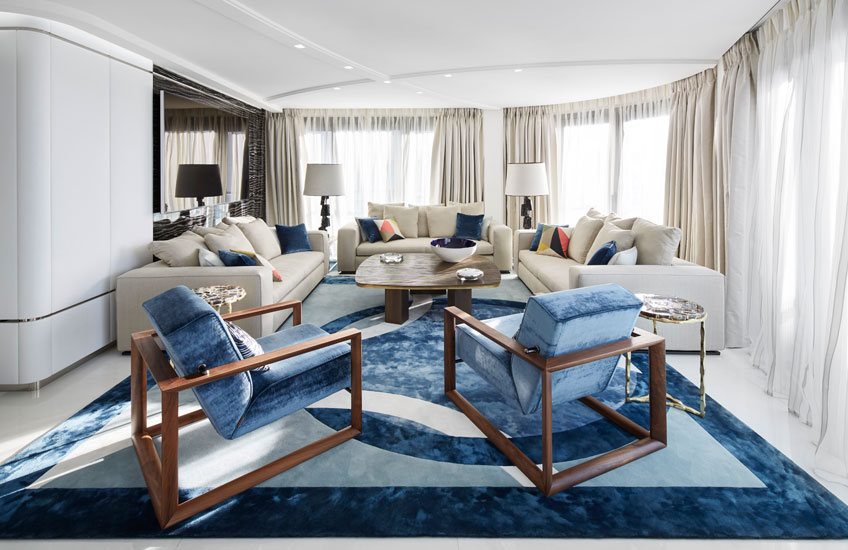 Unique Area Rugs – Stephanie Coutas, Cannes living room – LuxDeco.com Style Guide