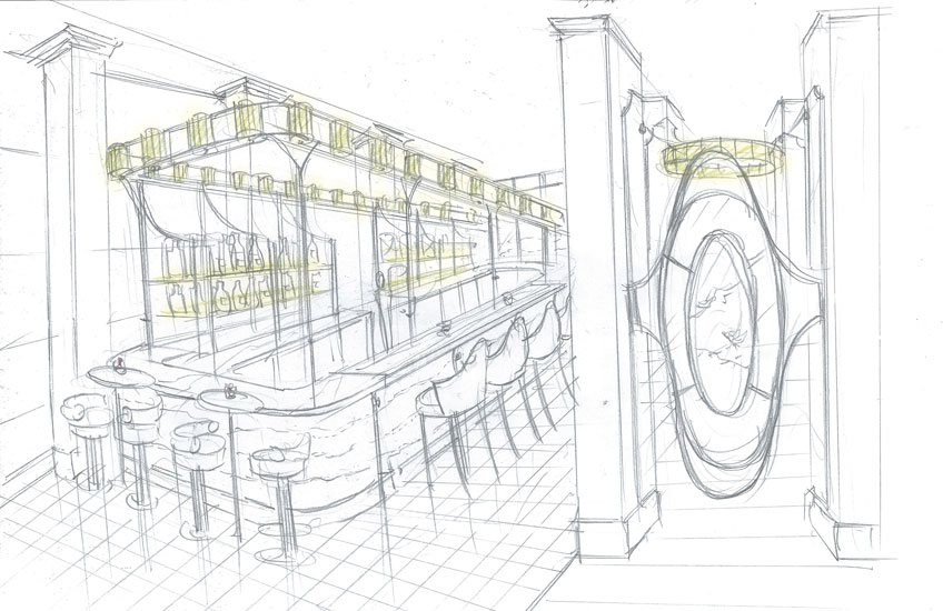 Mei Ume restaurant – Four Seasons Hotel London at Ten Trinity Square – Illustration – LuxDeco.com Style Guide