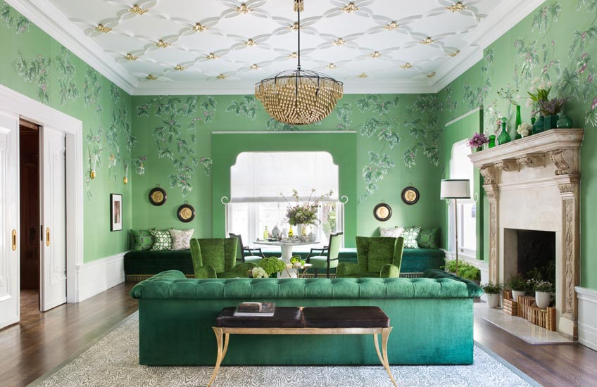 Green Interior Inspiration – Carrier and Company:Photography by Doug Friedman – Jonathan Rachman interior design:San Francisco Show House – LuxDeco.com Style Guide