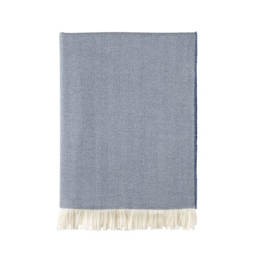 Herringbone Throw - Denim Blue