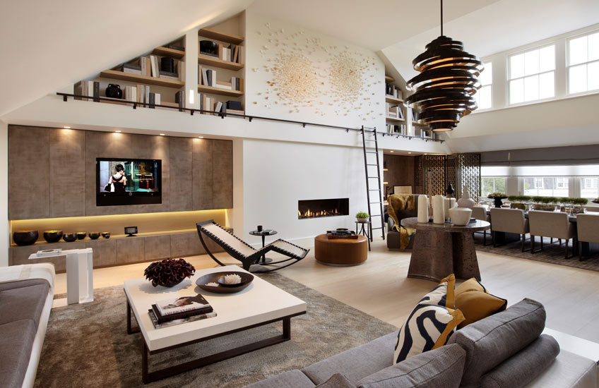 Interior Design Styles 101 – Loft Interiors – Loft Living Room – Helen Green Living Room – Read more in the LuxDeco Style Guide