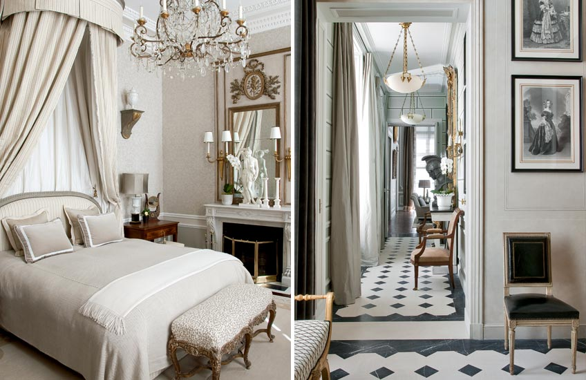 Interior Design Styles 101 – French Interiors – Jean-Louis Deniot French Bedroom – Read more in the LuxDeco Style Guide