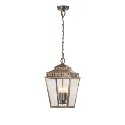 Mansion House Lantern Pendant - Aged Brass