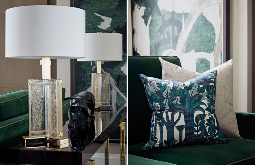 Green and gold homeware and furniture – Shop green and gold homeware at LuxDeco.com – Photography (c) Taylor Howes