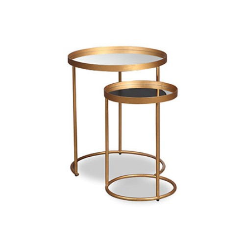 Song Side Tables - Set of Two - Antique Gold