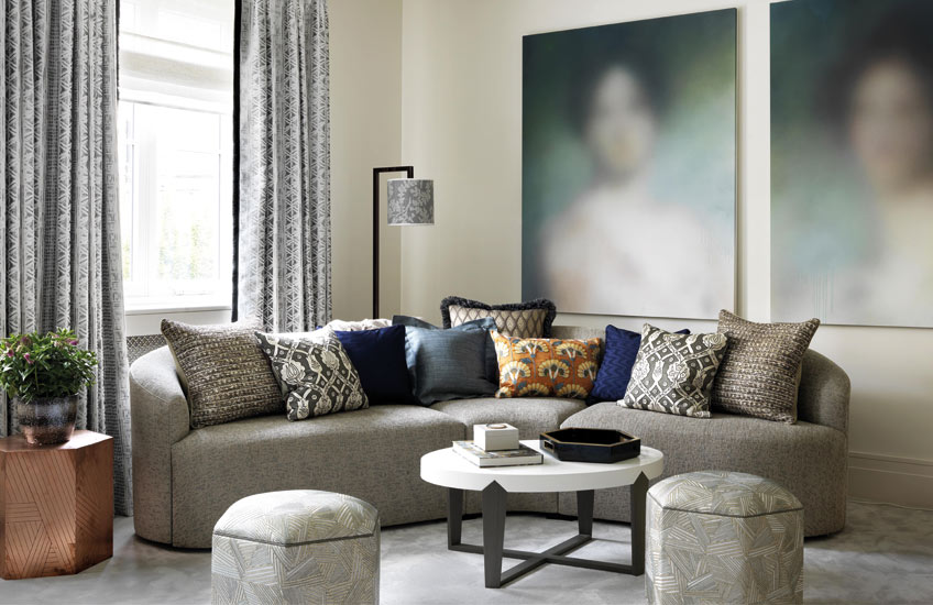 How To Style Your Sofa Cushions – Eclectic cushion arrangement – Shop Luxury Cushions at LuxDeco.com