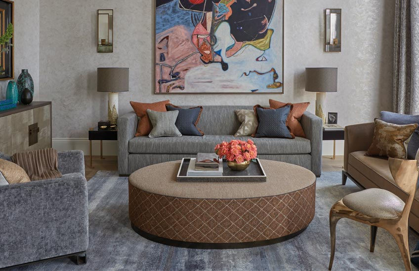 How To Style Your Sofa Cushions – Separated trio cushion arrangement – Shop Luxury Cushions at LuxDeco.com
