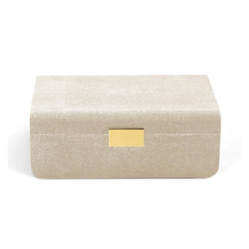 Wheat Shagreen Jewellery Box