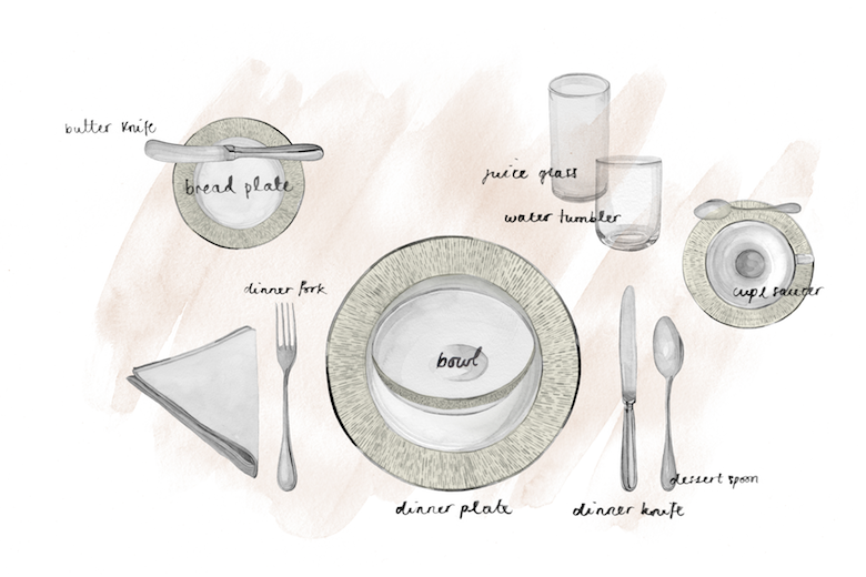 How to set a table for a breakfast - dining table setting ideas - LuxDeco.com