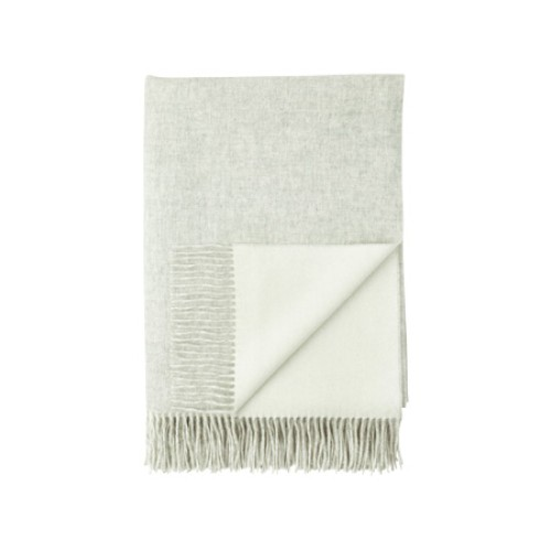 Cashmere Reversible Throw Silver