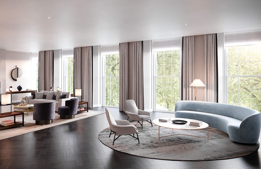 How To Master London Interior Design –Finchatton Interior Design – Neutral Living Room –Read on the LuxDeco.com Style Guide