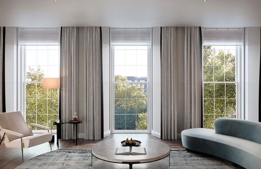 How To Master London Interior Design –20 Grosvenor Square – Neutral Living Room –Read on the LuxDeco.com Style Guide