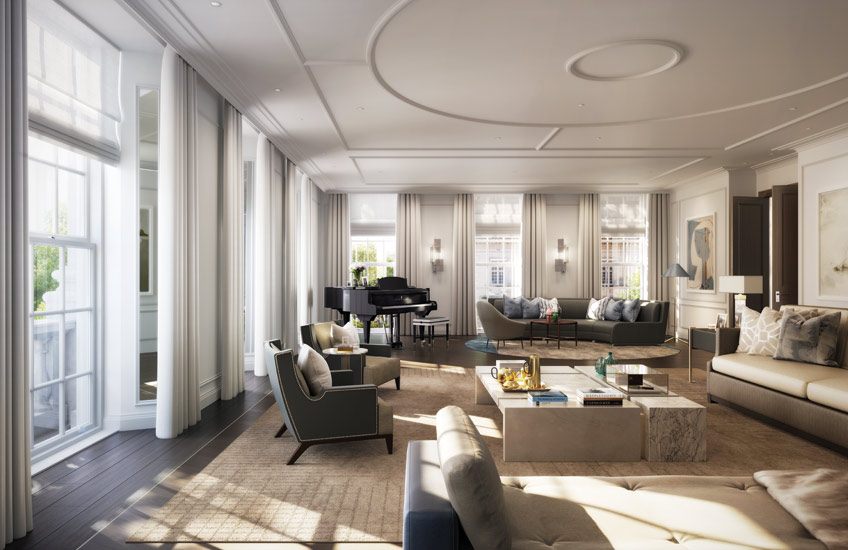 How To Master London Interior Design –20 Grosvenor Square – Timeless Living Room Design –Read on the LuxDeco.com Style Guide