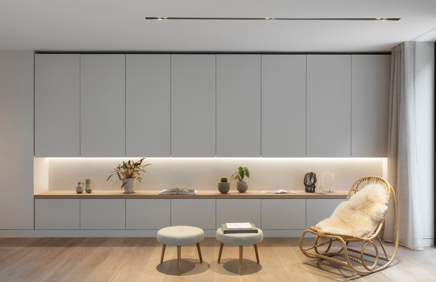 How To Create A Healthy Home For The New Year – Modern Cabinetry –  Echlin Levenston House – Read more in the LuxDeco.com Style Guide