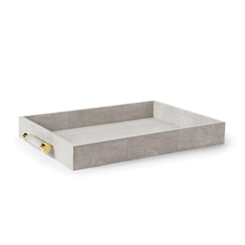 Dove Shagreen Serving Tray