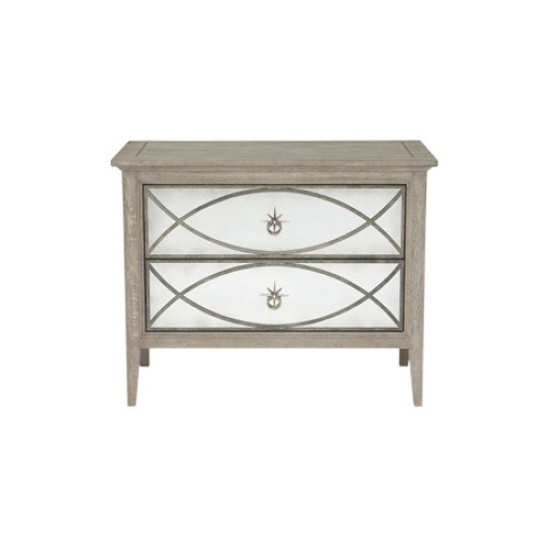 Marquesa Bedside Table - Antique Mirror
