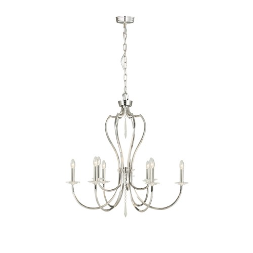 Pimlico 9-Light Chandelier - Polished Nickel