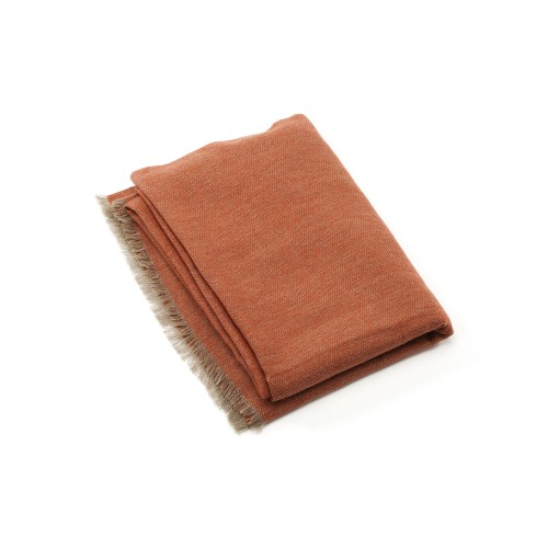 Saan Cashmere Throw - Coral