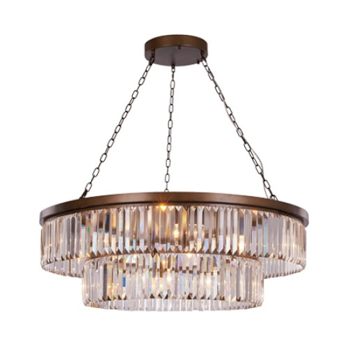 Crystalline 10 Light Ceiling Pendant