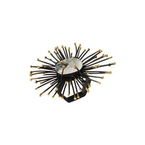 Flare Napkin Ring Black
