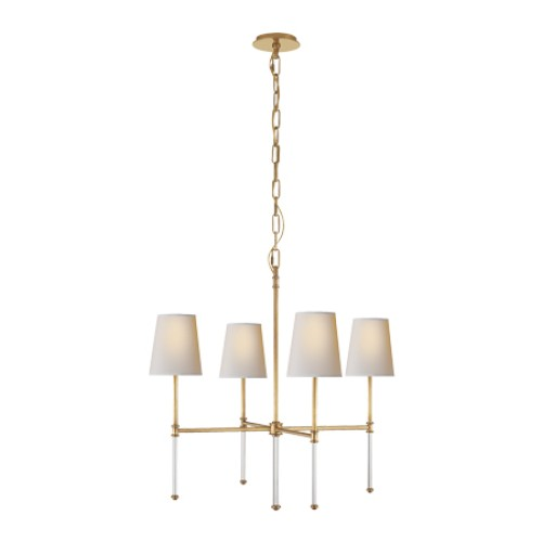 Camille Antique Brass Small Chandelier