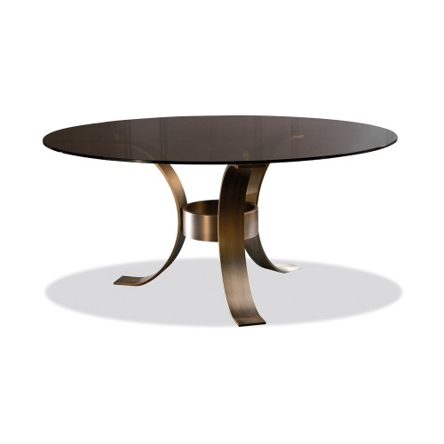 Massimo Glass Top Dining Table