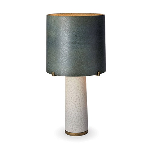 Pakal Table Lamp - Green Shade & Grey Base