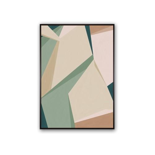 Folding Fields Oil On Canvas