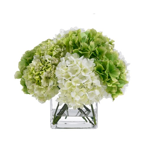 Green & Cream Hydrangea Bouquet