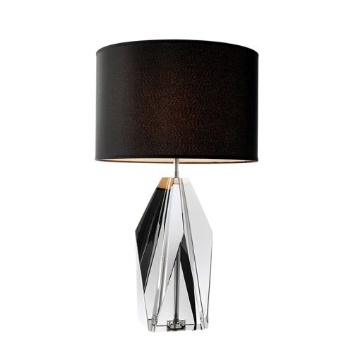 Setai Table Lamp - Glass - Smoke Crystal