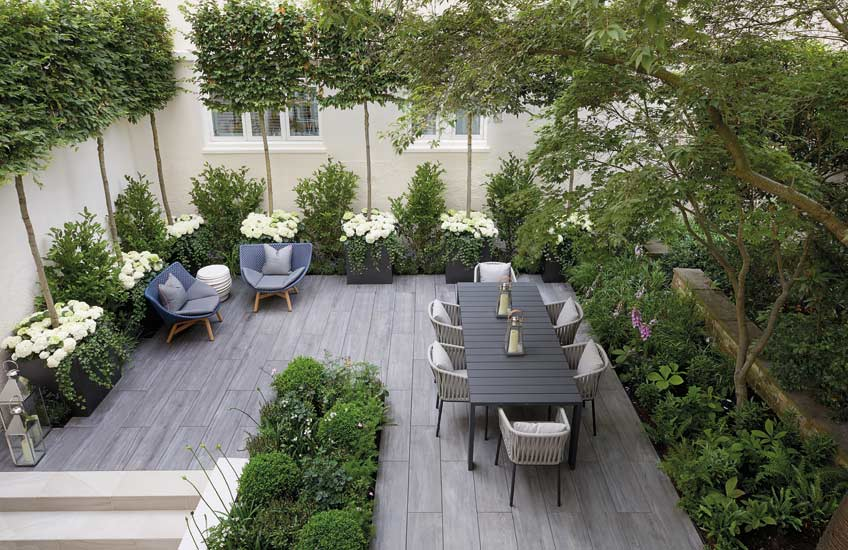 London Courtyard, Outdoor Space Ideas |Finchatton | Read more in the LuxDeco.com Style Guide