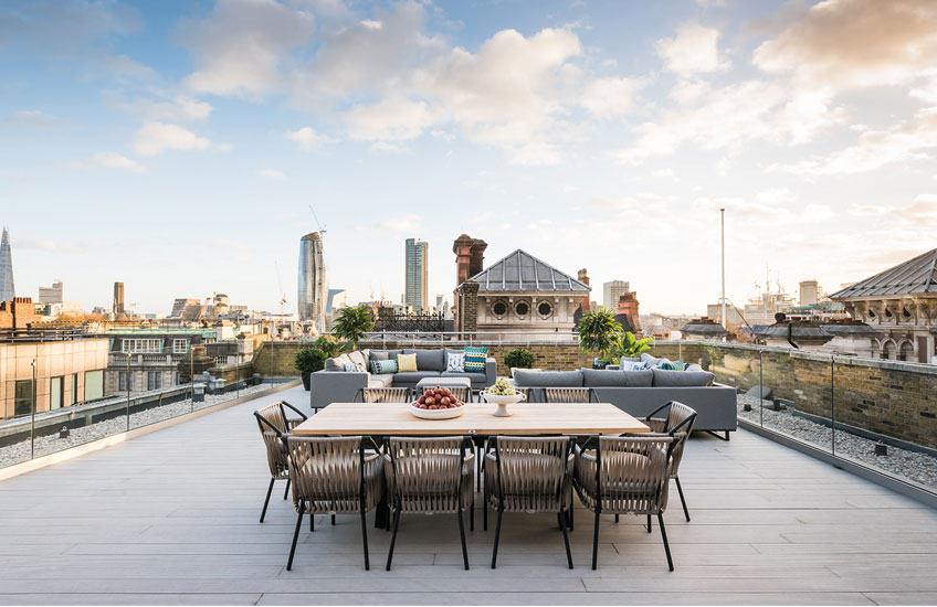 Rooftop Dining, Outdoor Space Ideas | A.LONDON | Read more in The Luxurist | LuxDeco.com