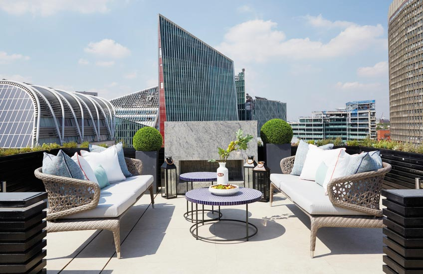 London Rooftop, Outdoor Space Ideas | A.LONDON | Read more in The Luxurist | LuxDeco.com
